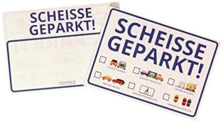 Scheisse geparkt Haftnotizen – Handschuhfach Must-Have 6