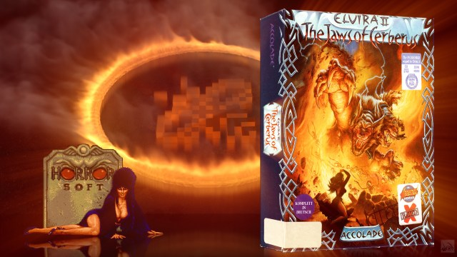 """""""Elvira II - The Jaws of Cerberus"""" from Accolade"""
