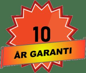 10 år garanti