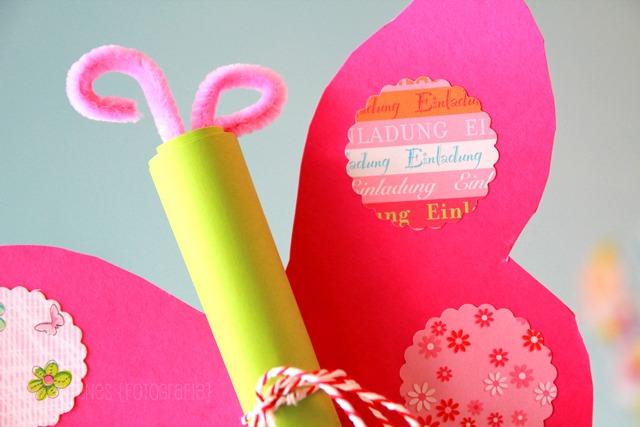Schön DIY Schmetterling Geburtstagseinladung | Einladungen Basteln |  Mädchengeburtstag | Waseigenes.com