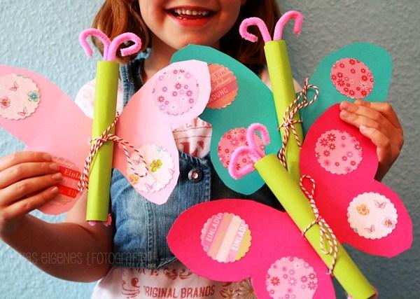 DIY Schmetterling Geburtstagseinladung | waseigenes.com