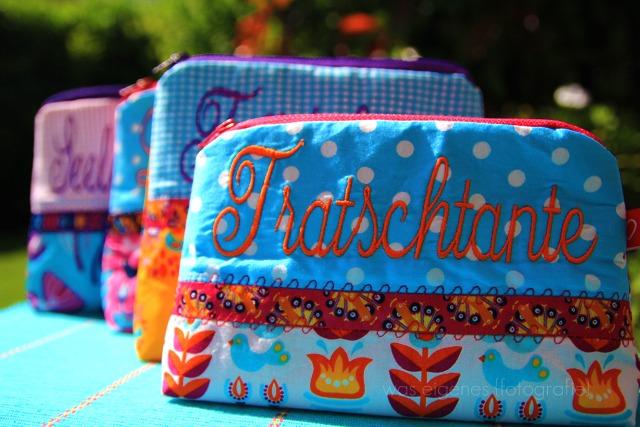 Schminktäschchen | Worttäschchen | Lieblingstante Tratschtante | was eigenes Shop & Blog