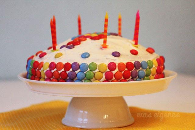 Smarties Geburtstagskuchen   was eigenes Blog