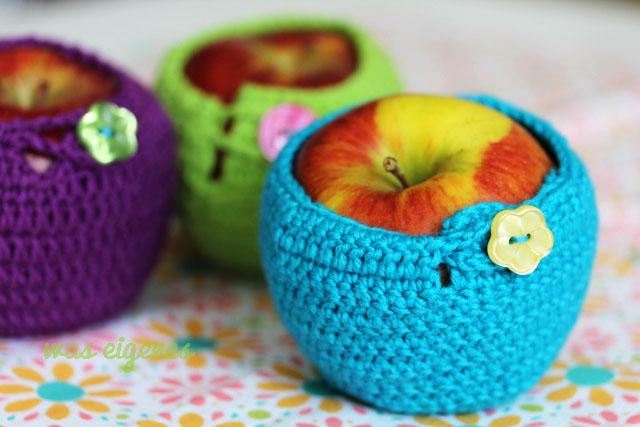 Gehäkelte Apfelwärmer, Idee aus der Mollie Makes | waseigenes.com DIY Blog