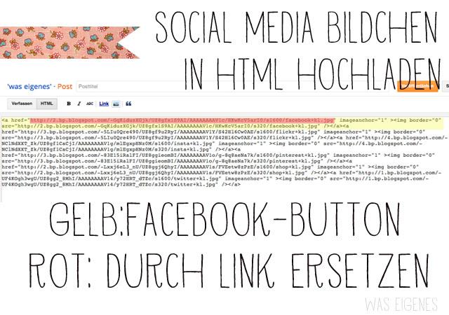 Wie man social media Buttons in einen Blogspot Blog einbaut   Anleitung   was eigenes Blog