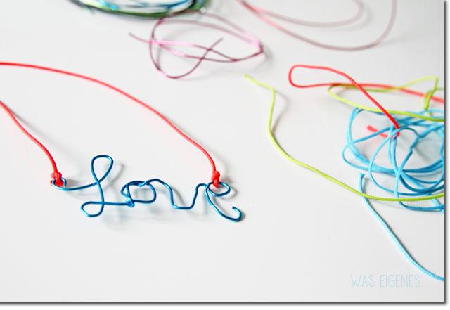 DIY blogger necklace kette love