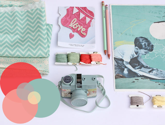 coral mint moodboard my new blogdesign. Black Bedroom Furniture Sets. Home Design Ideas