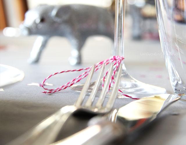 Silvesterdekoration | grau & pink | DIY Silvester Deko | Jahreswechsel 2014-2015 | waseigenes.com
