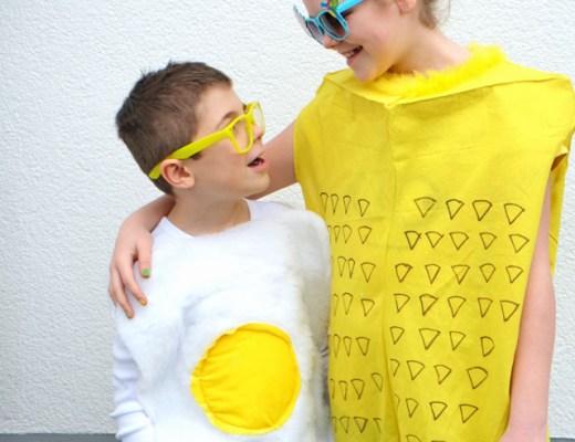 Karneval | DIY Ananas Kostüm, DIY Spiegelei Kostüm | Kostüme selber nähen | waseigenes.com