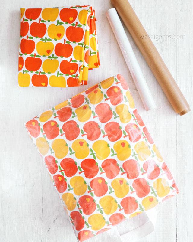DIY Kniekissen für die Gartenarbeit mit laminiertem Stoff | Baumwollstoff mit Frischhaltefolie beschichten und laminieren | waseigenes.com DIY Blog