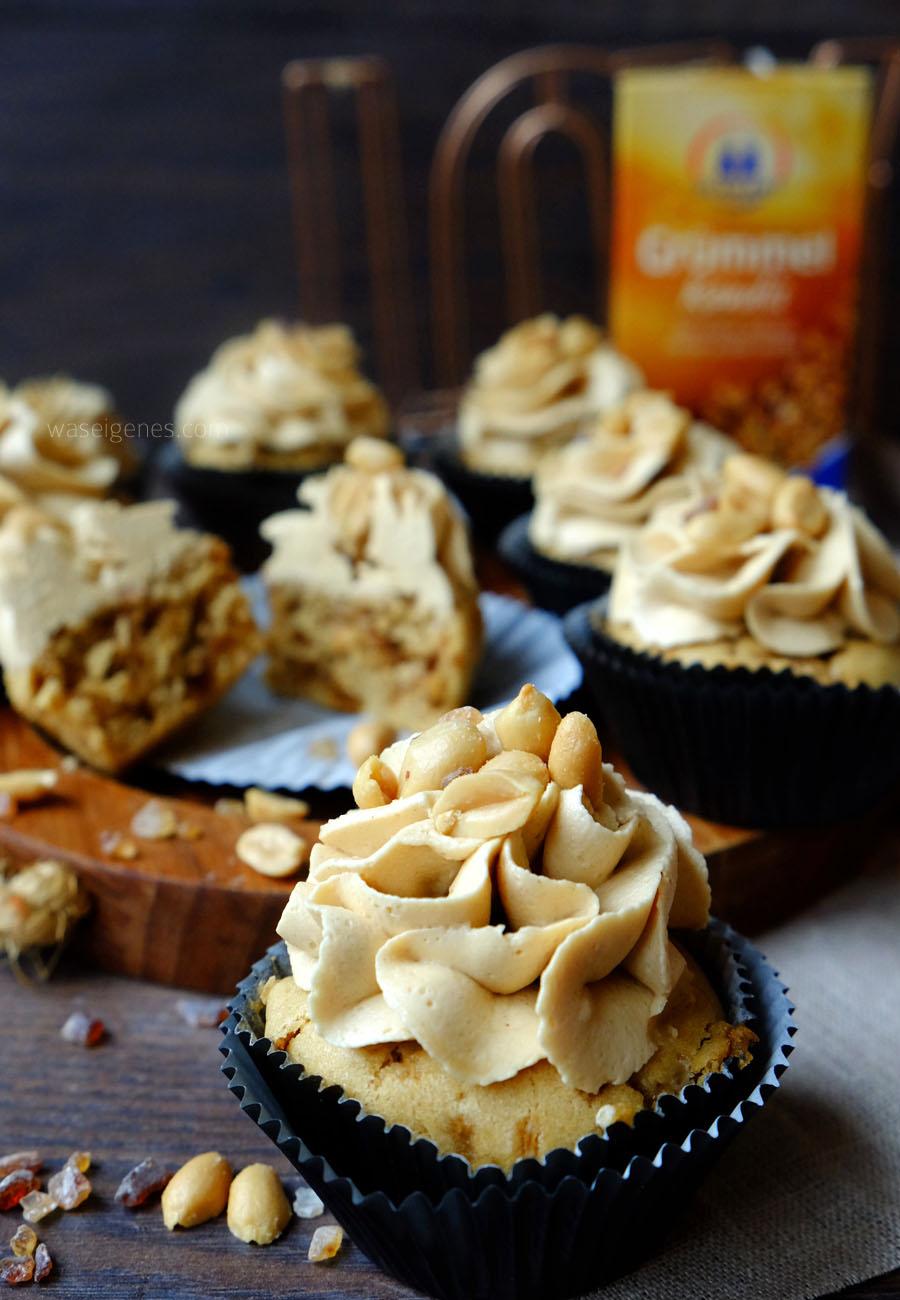 Rezept: Erdnussbutter Cupcakes mit Gruemmel Kandis | Winterideen mit Kandis von Diamant Zucker | waseigenes.com