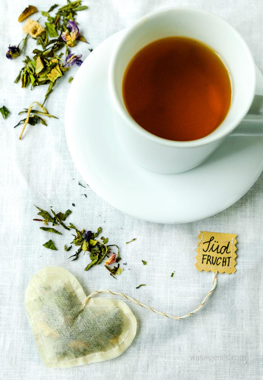 DIY Teebeutel selber nähen und mit losem Tee füllen | waseigenes.com