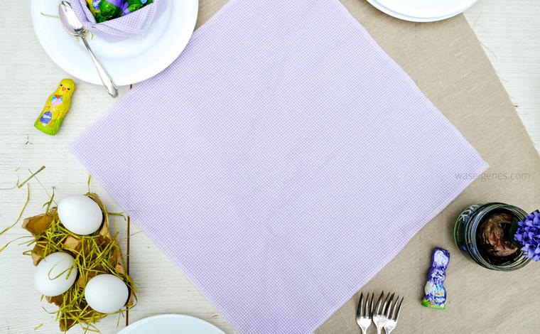Osternest aus Stoffservietten falten   Schritt für Schritt Anleitung   Ostern   Ostertafel   Tischdekoration   waseigenes.com