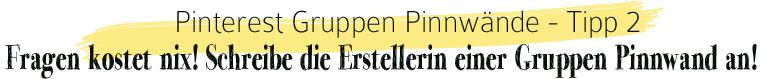 Pinterest Gruppen Pinnwand: Schreibe die Eigentümerin einer Gruppen Pinnwand an | waseigenes.com