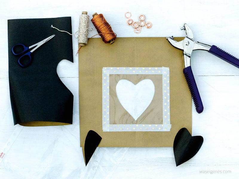 Bastel- und Faltanleitung Papiertüten mit selbst gedruckten Textillabel für Geschenke aus der Küche   waseigenes.com DIY Blog