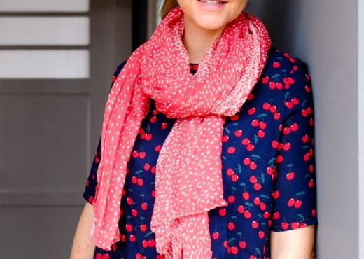 DIY Tunika Bluse Frau Yoko | Kirschen Stoff | waseigenes.com DIY Blog