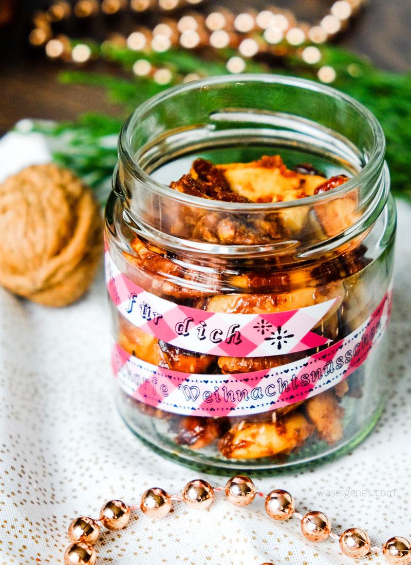 Geschenke aus der Küche: Scharfe Weihnachtsnüsschen hübsch verpackt   waseigenes.com DIY Blog