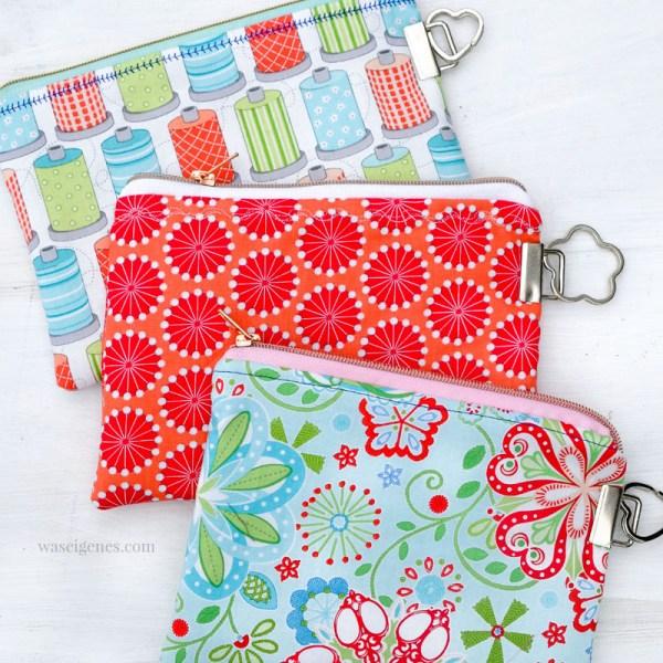 DIY Täschchen mit Schlüsselband Rohlingen selber nähen   Einfach Schlüsselband Enden an der Seite der Taschen anbringen und einen Schlüsselring befestigen   waseigenes.com