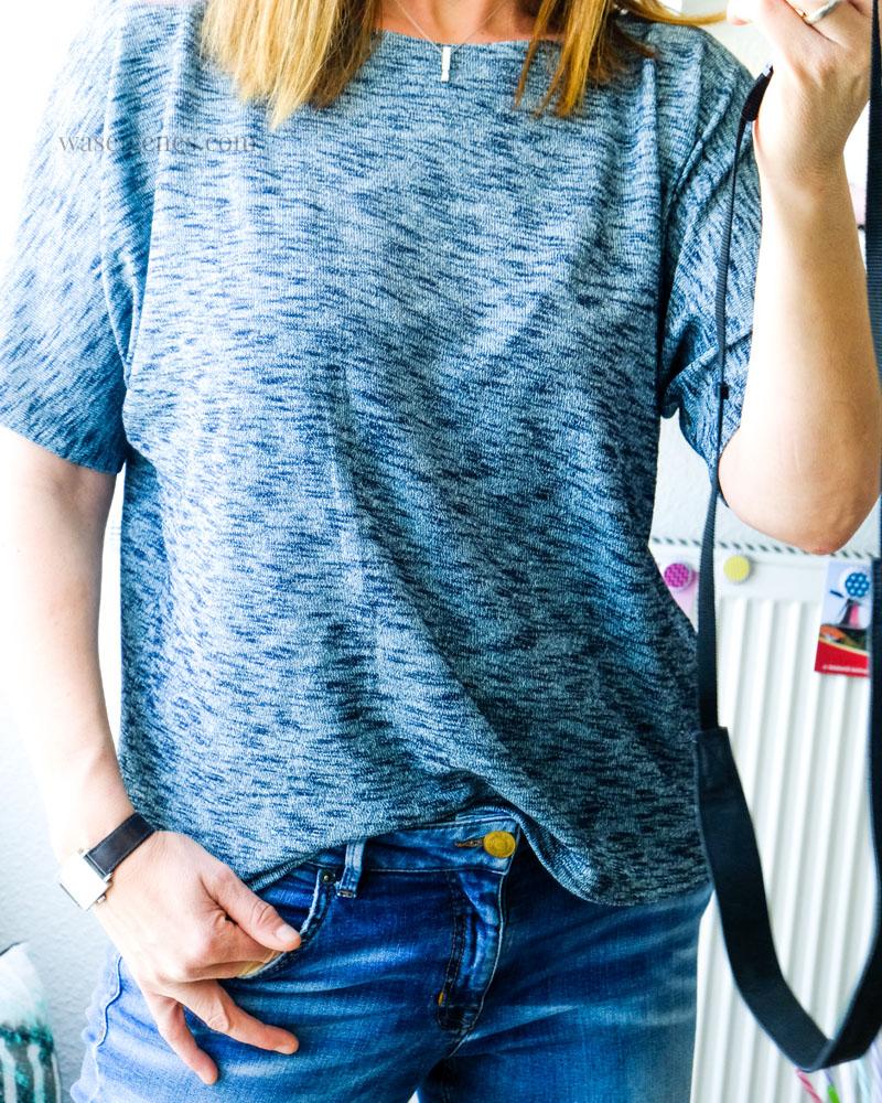DIY Sommer Shirt aus leichtem Strickstoff   Schnittmuster Frau Edda   waseigenes.com