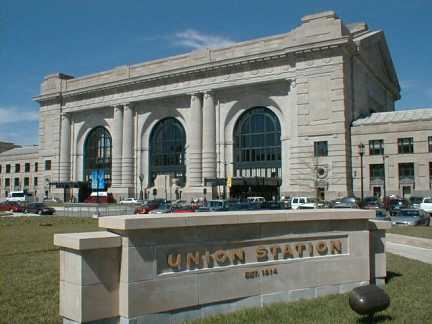 Union Station in Kansas City, Missouri which was built in 1914 and was at the time the second largest train station in the United States.