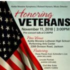 Kettle Moraine Symphony Honoring Veterans on Nov. 11.