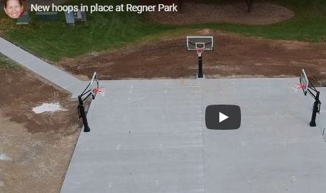 New basketball hoops in place at Regner Park