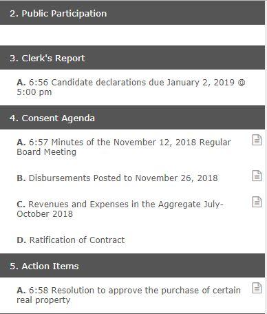 WBSD agenda