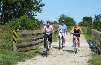 Bike riding on the Eisenbahn State Trail
