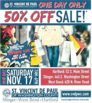 St. Vincent De Paul 50% off sale