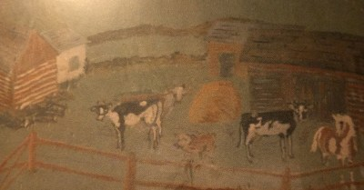 Beryl Timmer hand-painted mural
