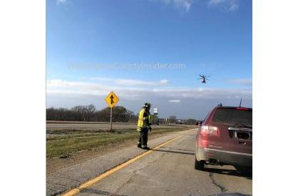 Flight for Life at scene of accident on I41