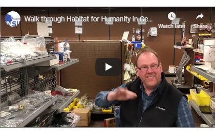 Russ Wanta at new Habitat Restore in Germantown