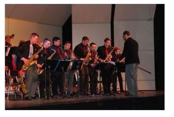Slinger High School jazz band
