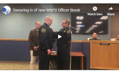Officer Brook swearing in
