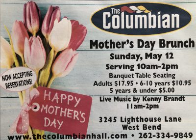 Mother's Day Brunch at the Columbian