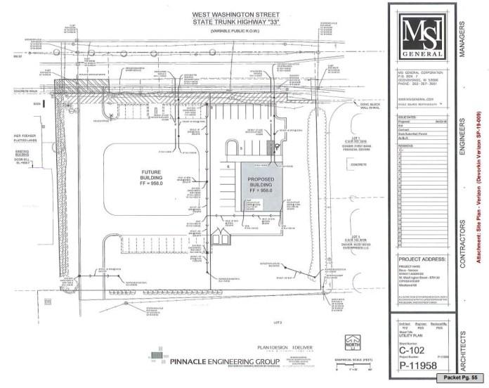Plans for Verizon store by WB Enterprises