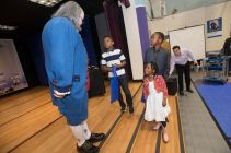 """""""Ben Franklin"""" talks innovation with young event attendees"""