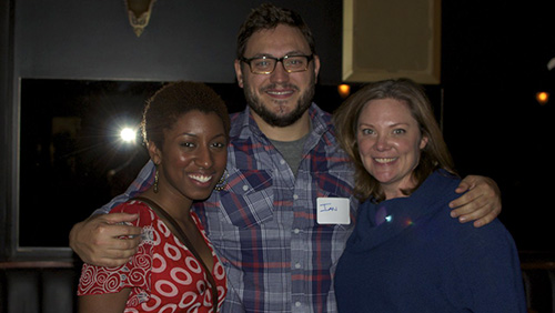Lab funding assistance recipients, Destiny Gowdy, and Ian Bell with Amy Lillard.