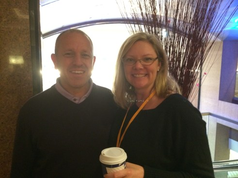 Ed Heneger from Reel Scout with Washington Filmworks Executive Director Amy Lillard.