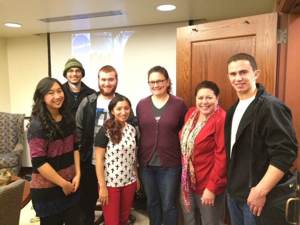 Washington State University film students and Associate Dean Ana Maria Rodriguez-Vivaldi.