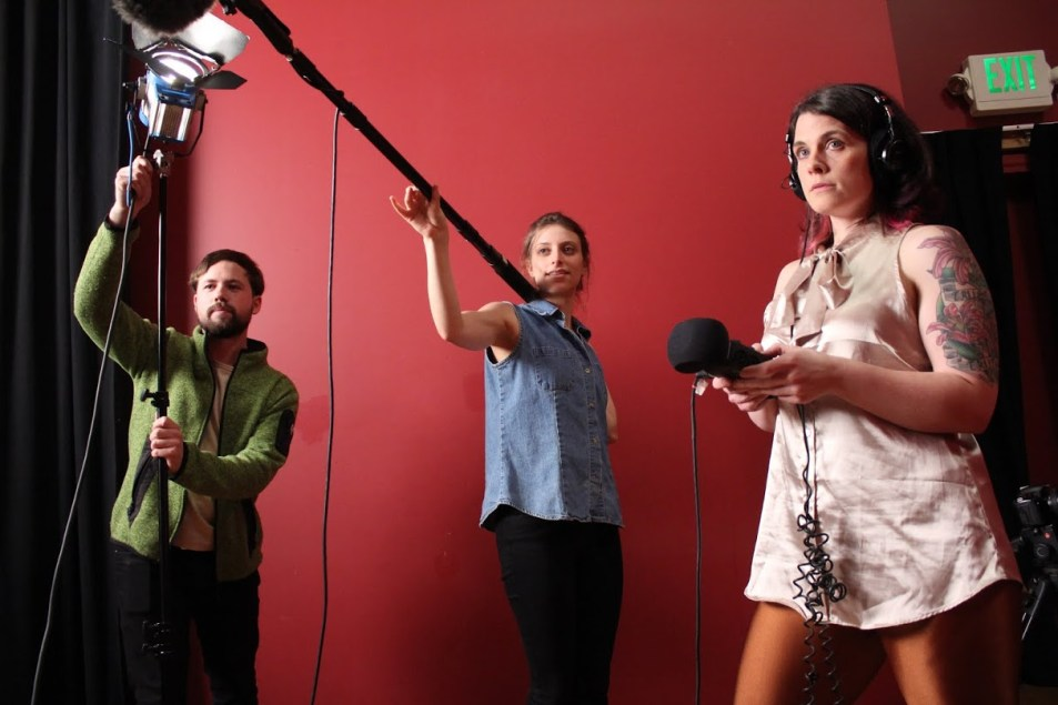 Filmmakers in action. Photo credit: Craig Downing