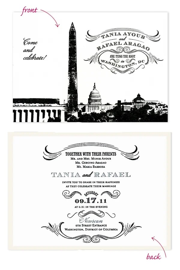Modern Dc Themed Invitations Washingtonian