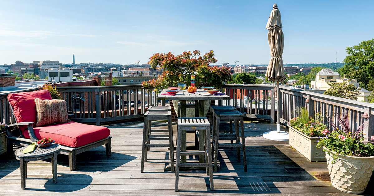 Roof Deck Inspiration: Monumental Views From Kalorama ... on Deck Inspiration  id=46245