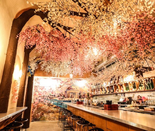 Dcs Pop Up Cherry Blossom Bar Is The Most Festive Place To Drink This Spring