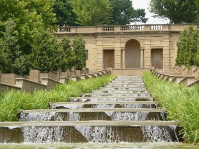 A thirteen-basin cascade fountain is one of the most dramatic features of Meridian Hill Park (Courtesy of Wikipedia)