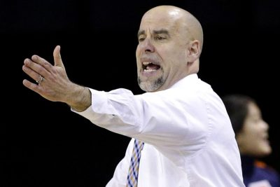 Illinois head coach Matt Bollant directs his team against Nebraska during the second half of an NCAA college basketball game in the Big Ten women's tournament in Hoffman Estates, Ill., on Thursday, March 5, 2015. (AP Photo/Nam Y. Huh)