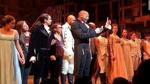 "The cast of the hit play ""Hamilton"" publicly confronted future VP Mike Pence on Saturday, Nov. 19, appealing to him and Donald Trump, from the stage, to ""uphold our American values"" and ""work on behalf of all of us."""
