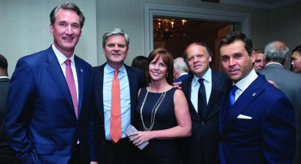 Glenn Youngkin, Steve and Jean Case, Mark Ein and Antonio Alves (Photo by Tony Powell)