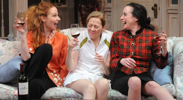 "Susan Lynskey, Kimberly Schraf and Susan Rome in ""The Sisters Rosensweig"" playing through February 27. (Photo by Stan Barouh)"