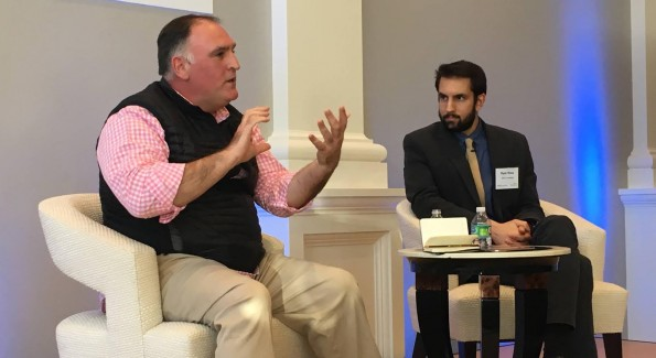 José Andrés speaks at the Halcyon Incubator Kick Off